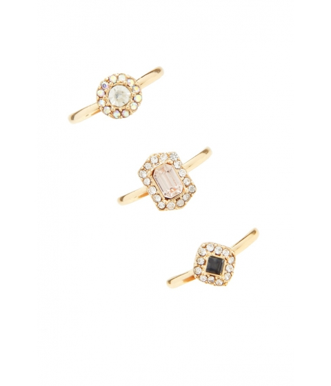 Bijuterii Femei Forever21 Faux Gem Ring Set Goldclear