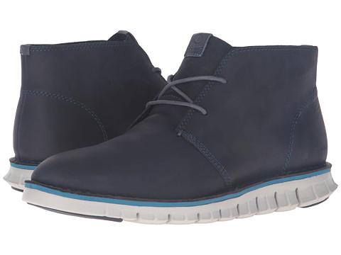 Incaltaminte Barbati Cole Haan Zerogrand Stitchout Chukka Marine Blue LeatherVapor Grey