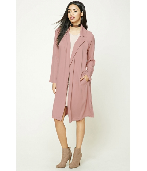Imbracaminte Femei Forever21 Belted Trench Coat Dusty pink