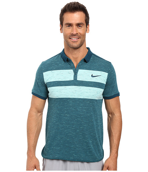 Imbracaminte Barbati Nike Court Dry Advantage Tennis Polo Midnight TurquoiseMidnight Turquoise