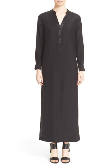 Imbracaminte Femei Vince Long Sleeve Silk Maxi Dress BLACK