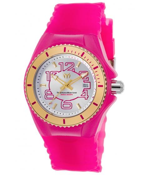 Ceasuri Femei Technomarine Cruise Jellyfish Pink Silicone SS Pink Sil Gold-Tone Bezel - TECHNO-TM-115132 Silver-TonePink