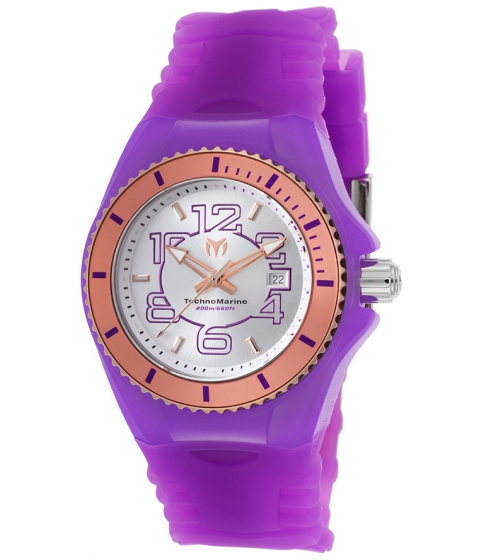 Ceasuri Femei Technomarine Cruise Jellyfish Purple Sil SS Purple Silicone Rose-Tone - TECHNO-TM-115138 Silver-TonePurple