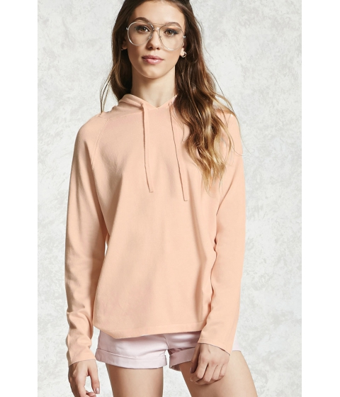 Imbracaminte Femei Forever21 Boxy Hooded Sweater Pink