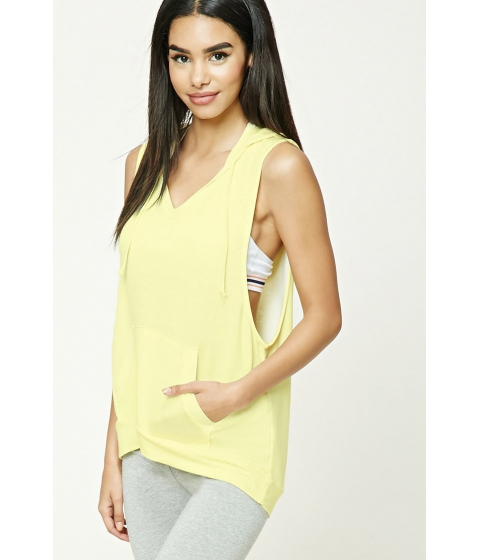 Imbracaminte Femei Forever21 Hooded V-Neck Top Yellow