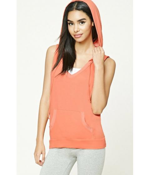 Imbracaminte Femei Forever21 Hooded V-Neck Top Orange