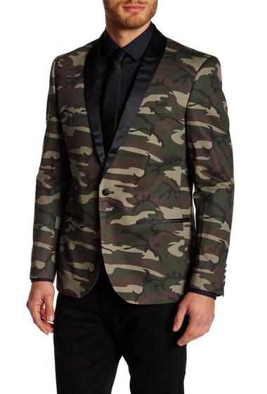 Imbracaminte Barbati EDGE by WDNY Shawl Collar Print Blazer CAMO