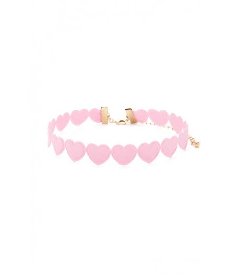 Bijuterii Femei Forever21 Heart Silhouette Choker Pink