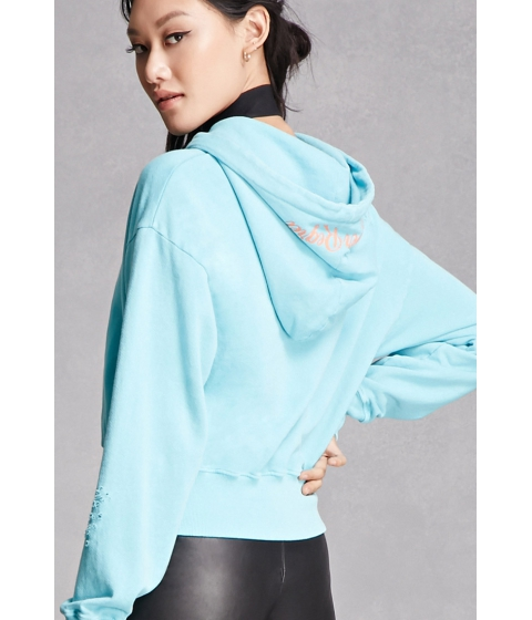 Imbracaminte Femei Forever21 Private Academy Graphic Hoodie Lime