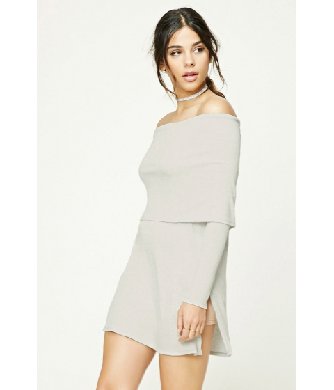 Imbracaminte Femei Forever21 Heathered Off-the-Shoulder Top Heather greycream