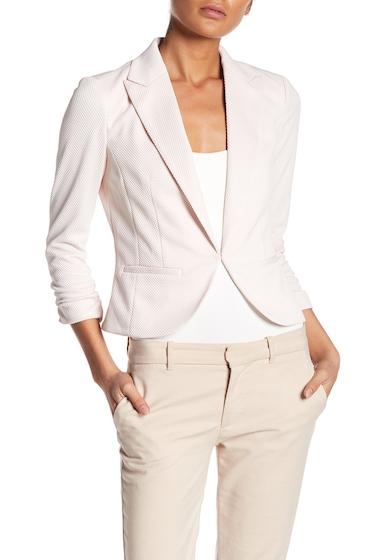 Imbracaminte Femei Amanda Chelsea Pique 34 Sleeve Knit Blazer Jacket BLUSH