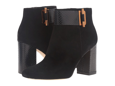 Incaltaminte Femei Michael Kors Gloria Bootie Black Kid SuedePrinted Solid Snake