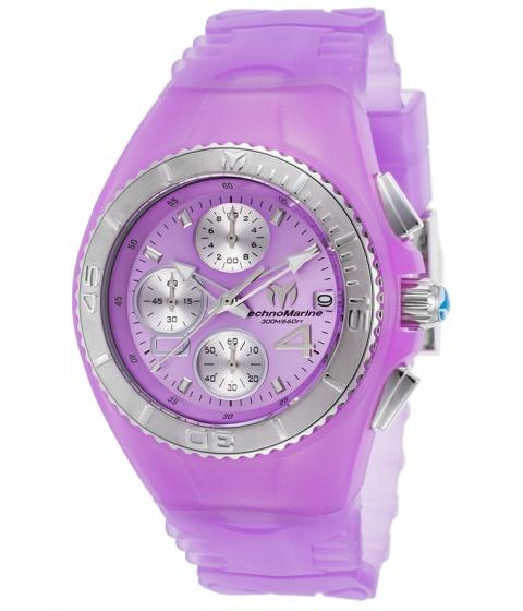 Ceasuri Femei Technomarine Cruise Jellyfish Chronograph Purple Silicone Purple Dial - TECHNO-TM-115360 PurplePurple