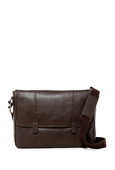 Genti Barbati Cole Haan Pebble Leather Messenger Bag CHOCOLATE