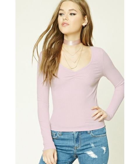 Imbracaminte Femei Forever21 Ribbed Knit Top Pink