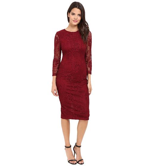 Imbracaminte Femei Jessica Simpson Floral Lace Midi Dress Cabernet