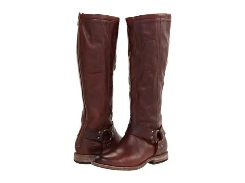 Incaltaminte Femei Frye Phillip Harness Tall Dark Brown Soft Vintage Leather