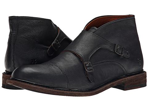 Incaltaminte Barbati Frye Jack Monk Chukka Black Buffalo Leather