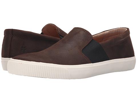 Incaltaminte Barbati Frye Miller Slip-On Dark Brown Waxed Vintage Leather