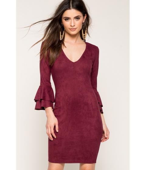 Imbracaminte Femei CheapChic Bella V-neck Dress WineBurgundy