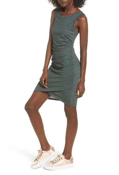 Imbracaminte Femei Leith Ruched Body-Con Tank Dress GREEN WOOD HEATHER