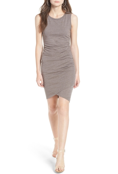 Imbracaminte Femei Leith Ruched Body-Con Tank Dress TAN DUSK HTHR