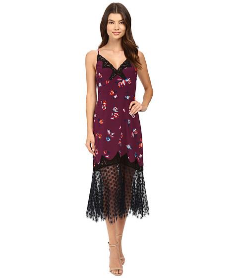 Imbracaminte Femei Rebecca Taylor Bellflower Print Slip Dress Plum Combo