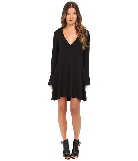 Imbracaminte Femei See by Chloe Textured Jacquard Long Sleeve Dress Black