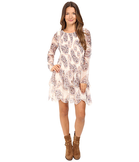 Imbracaminte Femei See by Chloe Crepon Paisley Tier Dress Winter White