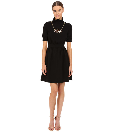 Imbracaminte Femei LOVE Moschino Dress with Gold Love Necklace Black