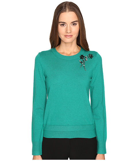 Imbracaminte Femei Kate Spade New York Embellished Brooch Sweater Emerald Ring