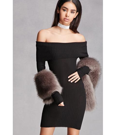 Imbracaminte Femei Forever21 Off-the-Shoulder Dress Black