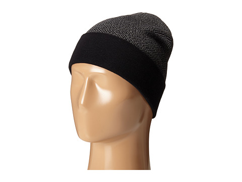 Accesorii Barbati Cole Haan Fine Gauge Pattern Jacquard Knit Cuff Hat BlackHeather Grey