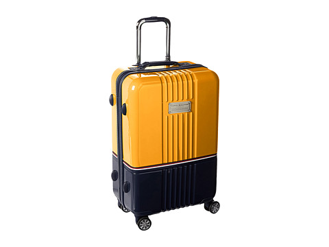 Genti Femei Tommy Hilfiger Duo Chrome 24quot Upright Suitcase YellowNavy