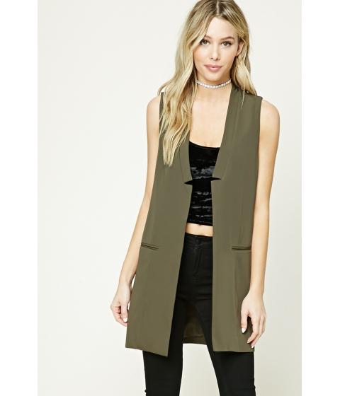 Imbracaminte Femei Forever21 Longline Vest Olive