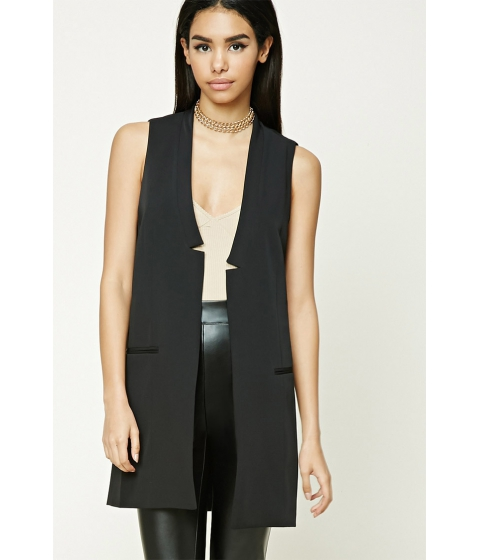 Imbracaminte Femei Forever21 Longline Vest Black