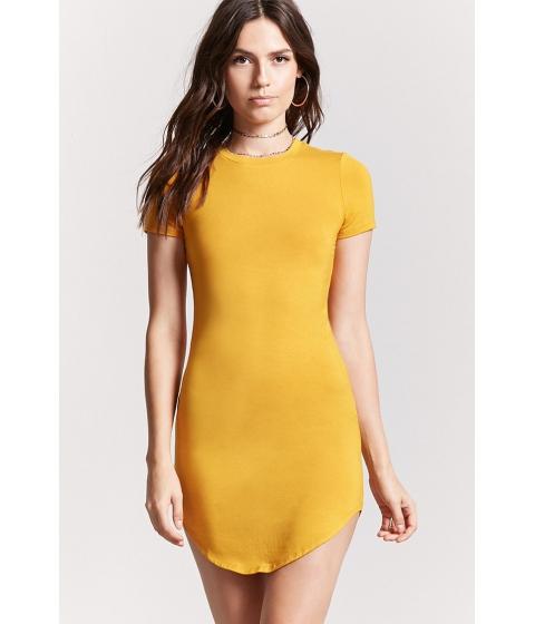 Imbracaminte Femei Forever21 Curved Hem T-Shirt Dress GOLD