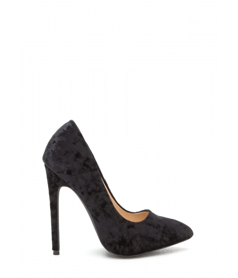 Incaltaminte Femei CheapChic Crushed Competition Velvet Pointy Pumps Black