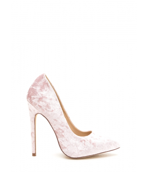 Incaltaminte Femei CheapChic Crushed Competition Velvet Pointy Pumps Blush