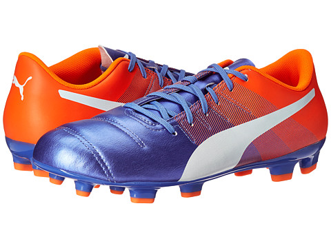 Incaltaminte Barbati PUMA evoPOWER 43 FG Blue YonderPuma WhiteShocking Orange