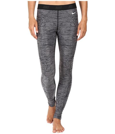 Imbracaminte Femei Nike Golf Print Tights Dark GreyBlackMetallic Silver