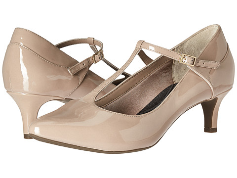 Incaltaminte Femei Rockport Total Motion Kalila T-Strap Warm Taupe Patent