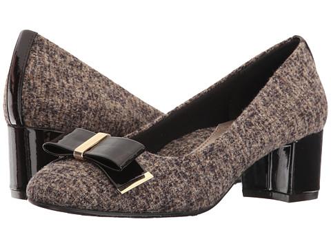 Incaltaminte Femei Soft Style Tacita Dark Brown TweedPearlized Patent