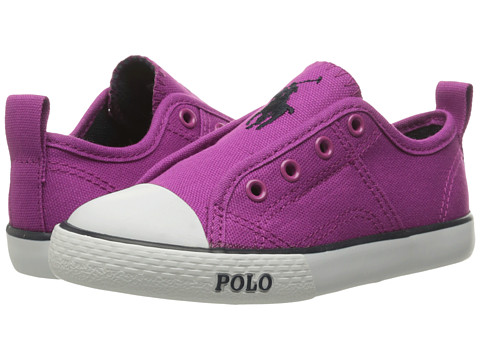 Incaltaminte Baieti Polo Ralph Lauren Raymond Slip-On (Toddler) Berry CanvasNavy Pony