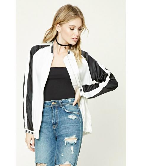 Imbracaminte Femei Forever21 Contemporary Satin Jacket Creamblack