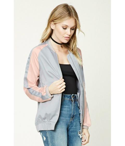 Imbracaminte Femei Forever21 Contemporary Satin Jacket Greypink