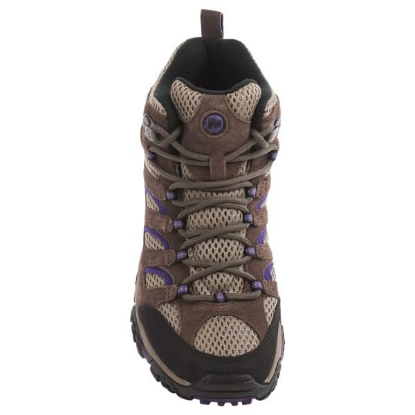 Incaltaminte Femei Merrell Moab Ventilator Mid Hiking Boots BRACKENPURPLE (01)