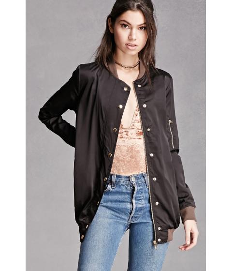 Imbracaminte Femei Forever21 Satin Bomber Jacket Black