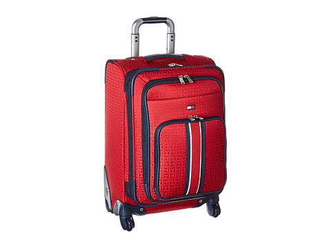 Accesorii Femei Tommy Hilfiger Classic Signature 21quot Jacquard Suitcase Red