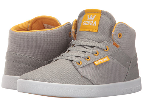 Incaltaminte Baieti Supra Yorek High (Little KidBig Kid) Grey CanvasWhite